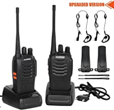 CACAGOO Walkie Talkie Recargable 16 Canales 1500mah CTCSS