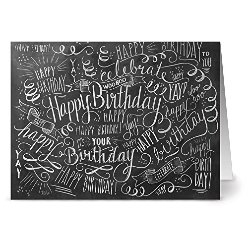 Note Card Cafe Happy Birthday Card Assortment with Kraft Envelopes | 36 Pack | Birthday Bash Designs | Blank Inside, Glossy Finish | Bulk Set for Greeting Cards, Occasions, Birthdays