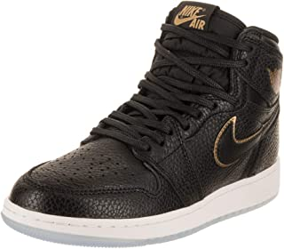 promo code 84f11 ff7e1 Jordan Air 1 Retro High OG BG - US 4Y Black Metallic Gold