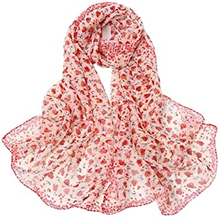 Women's Silk Feeling Scarf Fashion Scarfs Lightweight Sunscreen Scarves Wraps Shawls for Ladies and Girls