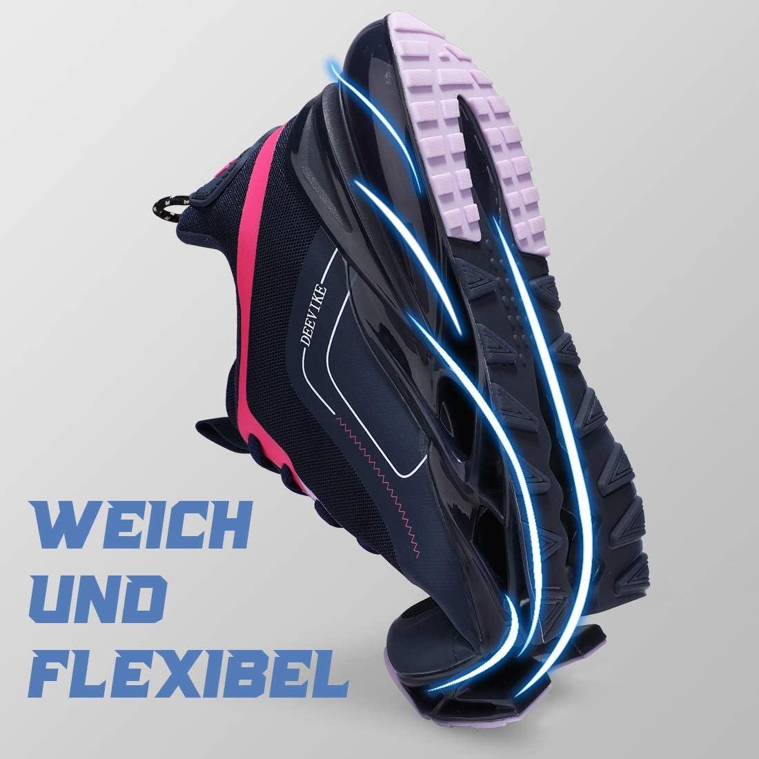 Deevike Laufschuhe Damen Sneaker Wanderschuhe rutschfest Schuhe Damen 35-42EU
