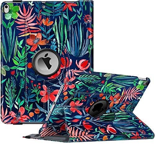 """FINTIE Custodia per Nuovo iPad Air 10,5"""" (3ª Gen) 2019 / iPad PRO 10,5"""" 2017 con Pencil Holder- Girevole 360 Gradi di Rotazione Cover Protettiva Case con Auto Sveglia/Sonno, Jungle Night"""