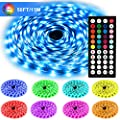 Led Strip Lights Kit, 50ft(15M) 5050 SMD RGB Flexible LED Tape Lights Non-Waterproof with DC24V Power Supply 44Key IR Remote Controller for Under Cabinet Lighting Bedroom, Living Room