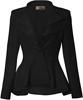 HyBrid & Company Women Double Notch Lapel Sharp Shoulder...