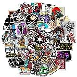 CHUDU Star Wars Coche de Dibujos Animados Motocicleta teléfono móvil Equipaje de Viaje Carrito Pegatina para Ordenador portátil Juguete 50 Piezas