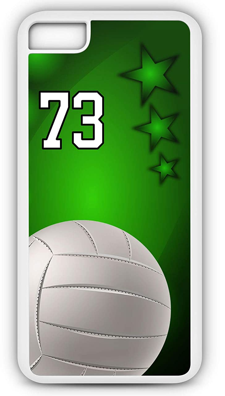 iPhone 6 Plus 6+ Phone Case Volleyball V013Z by TYD Designs in White Plastic Choose Your Own Or Player Jersey Number 73