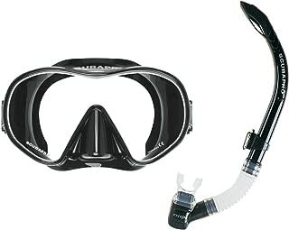 Scubapro Solo Dive Mask, (Black) W/Escape Semi-Dry Snorkel