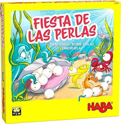 HABA 305870 - La Fiesta de Las Perlas, Juego de ensartar a Partir de 3 años