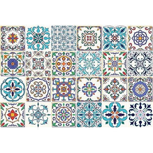 Ambiance-Live col- RV-0330_20x20cm Sticker Decorativi, Ceramica, Multicolore