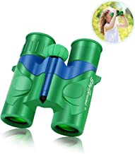SkyGenius Binoculars for Kids, Mini Binoculars Boys for Bird Watching, Real Optics High Resolution Small Binoculars for Travel Exploring Nature Hiking, Gifts for 3-12 Years Old - Green