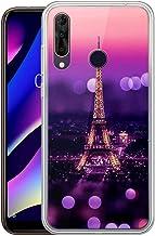 Yoedge Funda Wiko View 3, Ultra Slim Cárcasa Silicona Transparente con Dibujos Animados Diseño Patrón 360 Bumper Case Cover para Wiko View 3 (Torre Eiffel)