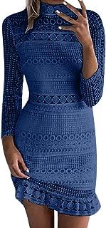 Womens Dress, Ladies Elegant Floral Print/Solid Color Party Bodycon Dress Classic Pencil Midi Dresses