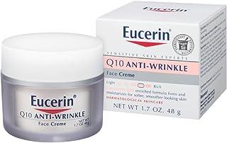 Eucerin 敏感面部肌膚 Q10 抗皺敏感肌膚霜 無香型 1.7 盎司(2 片裝)