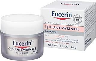 Eucerin 敏感面部肌肤 Q10 抗皱敏感肌肤霜 无香型 1.7 盎司(2 片装)