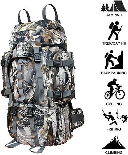 WUZHENG Trekking sac à dos 60L, Sac à Dos de randonnée en Plein air Professionnel Unisexe et étanche pour Le Camping