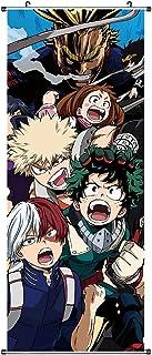 CosplayStudio Grand tableau à rouler My Hero Academia | Kakemono en tissu | Poster 100 x 40 cm | Motif Izuku Midoriya & Fr...
