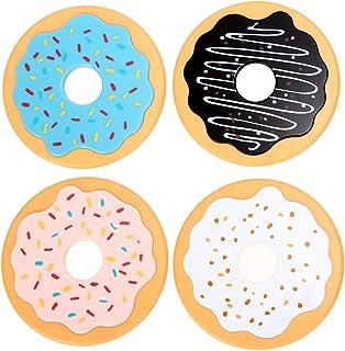 2 uppsättningar rund donut coaster dricka flaska öl dryck kopp matkuddar plastkustar köksbord dekoration tillbehör 422 (Co...