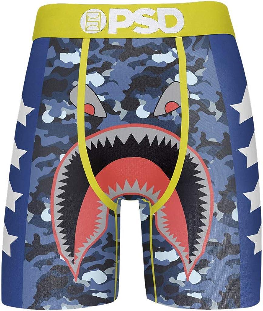 PSD Men's Brief Underwear Bottom (Blue/Merican Warface, M)