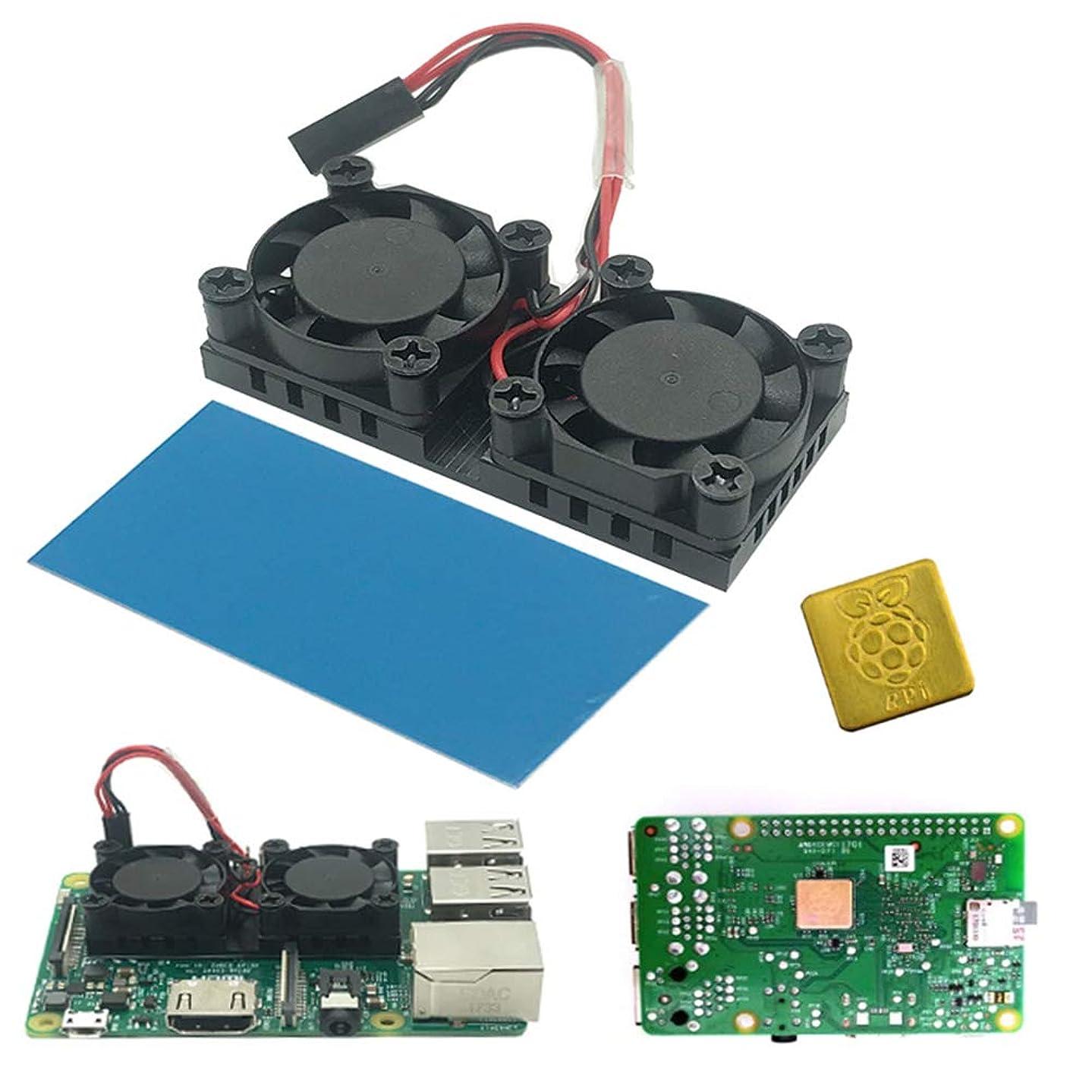 putdWH99 Cooling Fan for Computer | Heat Dissipation Dual Cooling Fan Heatsink Cooler Module for Raspberry Pi 1/2/3B