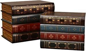 2 Pcs False Book Box Vintage Storage Book Jewellery Storage Packaging Study Book Ornaments Wooden Antique Classic Decorative False Book