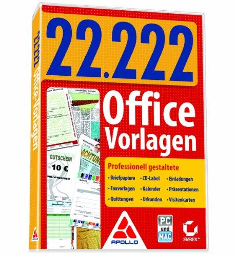 22.222 Office-Vorlagen [import allemand]