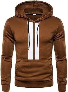 neveraway Men Hood Pullover Velvet Stitch Fashion Sweatshirts