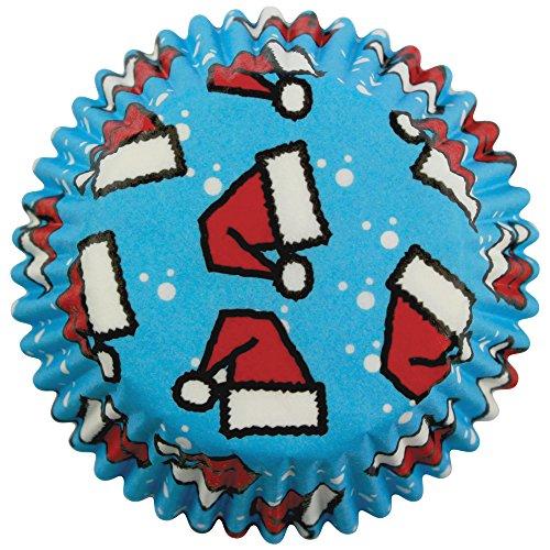 PME - Caissettes à Cupcakes en Papier à Bonnets du Père Noël, Miniatures, Lot de 100