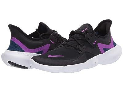 Nike Free RN 5.0 (Black/Vivid Purple/Valerian Blue) Women