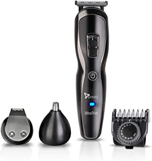 SYSKA HT3333K Corded & Cordless Stainless Steel Blade Grooming Trimmer with 60 Minutes Working Time; 10 Length Settings (B...