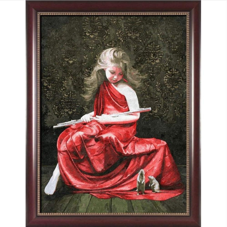 Malen nach Zahlen Färbung nach Zahlen Zahlen Zahlen für Wohnkultur Bild Ölgemälde Leinwand Gemälde rotes Kleid Mädchen 50x65cm B07Q4JKGL2 | Outlet Store  84bd72