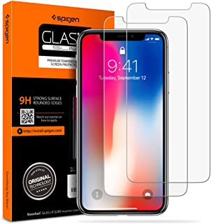 Spigen Tempered Glass Screen Protector [Case Friendly] Designed for Apple iPhone 11 Pro/iPhone Xs/X - 2 Pack