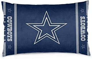 Gdcover Custom Colorful Dallas Cowboys Pillow Covers Standard Size Throw Pillow Cases Decorative Cotton Pillowcase Protecter with Zipper - 16x24 Inches