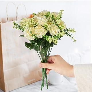 FSALS Hortensien Künstliche Blumen Weiß Mini Künstliche C