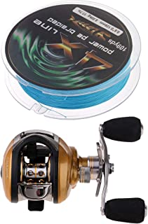 F Fityle 6.3:1 Gear Ratio Casting ReelsLow Profile Baitcasting Fishing Reel Tackle for Sea Fishing with Adjustable Brake System