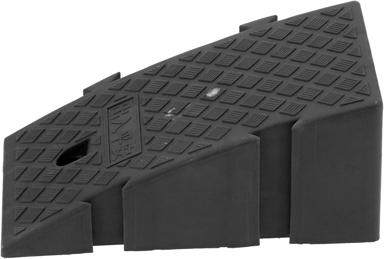 Rampas de carga, rampas de umbral resistentes para puertas con material plástico PP de grado industrial para scooter para silla de ruedas(negro)