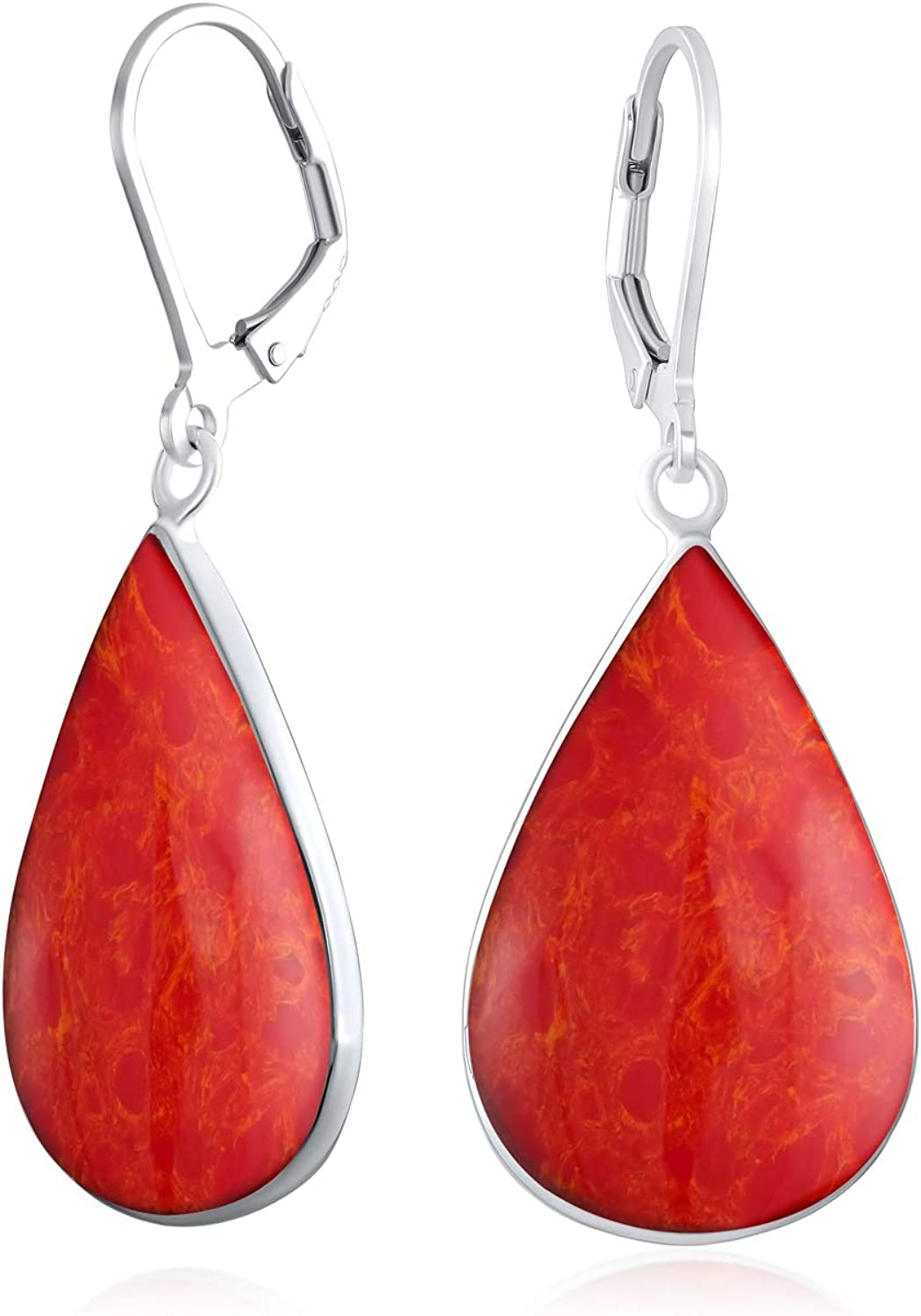 Large Courier shipping free shipping Shell Natural Genuine Gemstones Teardrop Shaped Pear Dangl Ranking TOP18