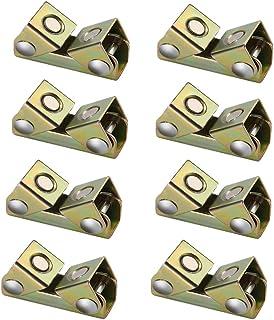 Monland 8 Piezas Soporte de Abrazaderas de Soldadura MagnéTica Tipo V Accesorio de SuspensióN Kit de Almohadillas Ajustables