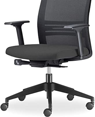 Cadeira de Escritório Giratória Presidente Com Apoio de Cabeça Agile F02 Preto - Lyam Decor