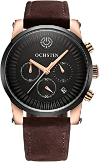 OCHSTIN 2017 Luxury Brand Genuine Leather Luminous Men Watches Quartz Analog 30M Water-Proof Man Casual Wristwatch Best Gi...