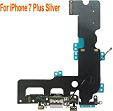 Johncase OEM Charging Port Dock Connector Flex Cable + Microphone + Cellular Antenna + Vibration Motor Connector Replacement Part Compatible for iPhone 7 Plus All Carriers (Light Gray)