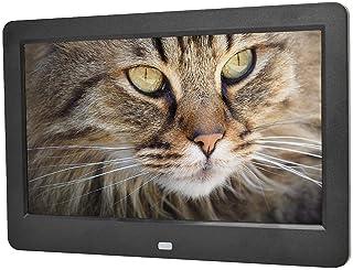 Digital Photo Frame, 10.1in 1024 * 600 LED Digital MP3 Video Player Support USB, SD Card, U Disk, Multifunction Advertisin...