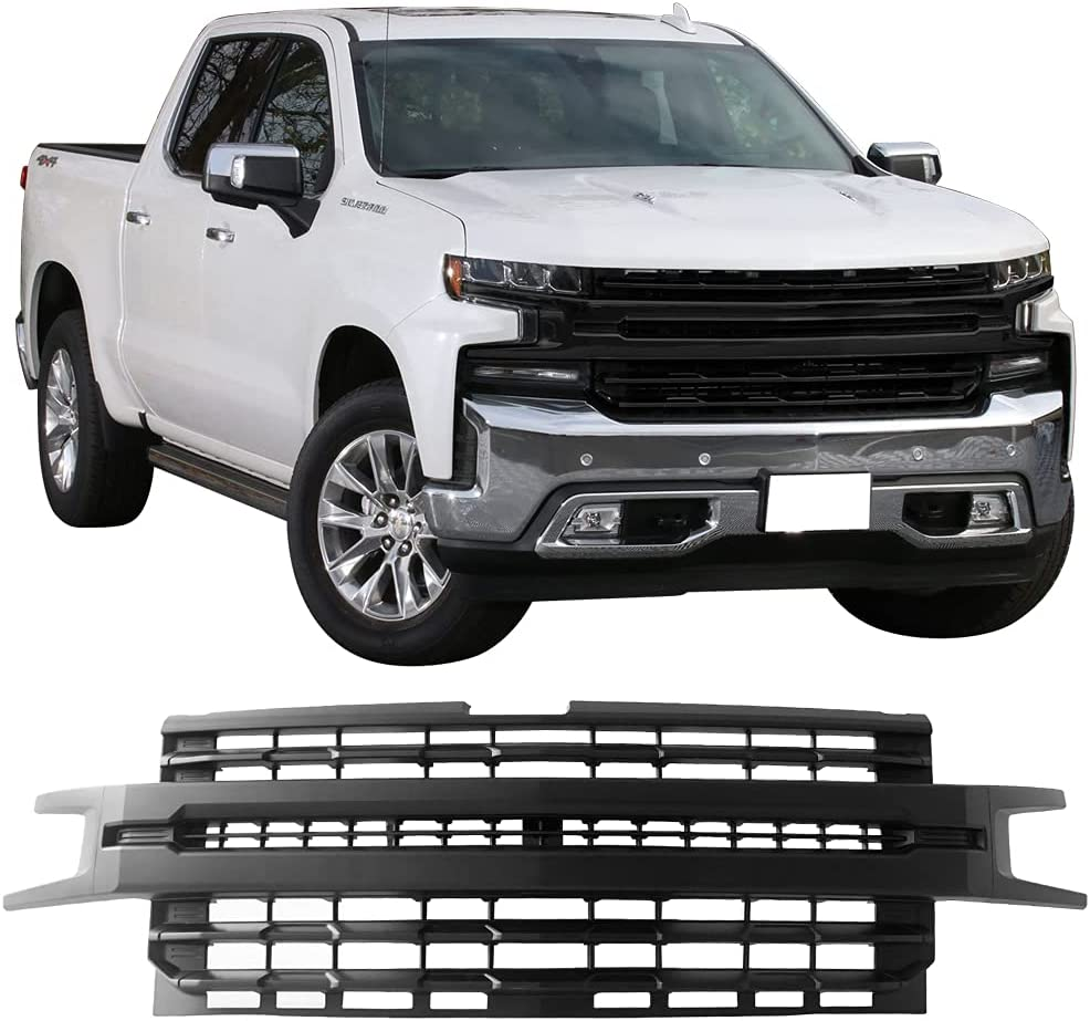 Buy Ikon Motorsprts Grille Compatible With 2019 2021 Chevrolet Silverado 1500 Ltz Front Bumper Hood Mesh Grill Matte Black Online In Indonesia B089lwh64q