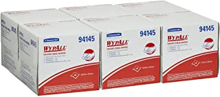WypAll 94145 WypAll Colour Coded Wipers, White, 100 Wipers/Box, Case of 6 Boxes, White 3.288 kilograms