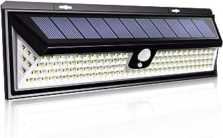 NEWLITE Upgraded 118 LED Solar Lights Outdoor, Solar Powered Motion Sensor Lights Waterproof IP 65 Patio Wall Light Wirele...