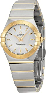 Constellation Silver Dial Stainless Steel and Gold Ladies Watch 123.20.24.60.02.002