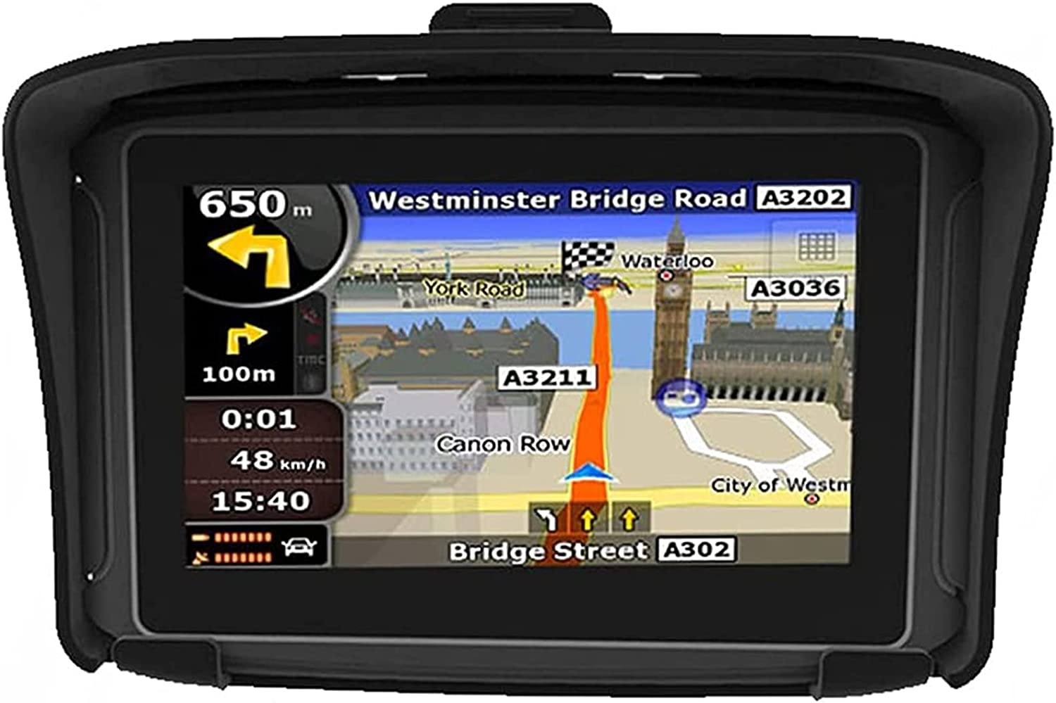 4.3 Inch Motorcycle GPS Navigation Device, Strong Waterproof,with Motorcycle Special Bracket and Equipment Protection Cover, Suitable for All Motorcycles