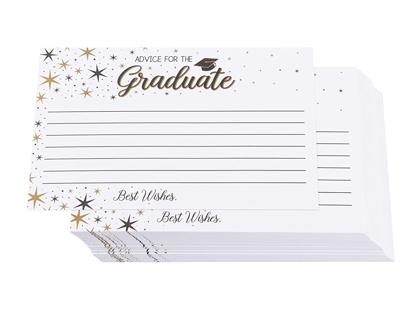 60 Pack Graduation Advice Cards - Wishing Well Cards for 2019 High School or College Graduation Party and Ceremony, Words of Wisdom Cards, Game Activity Cards, 4 x 6 Inches