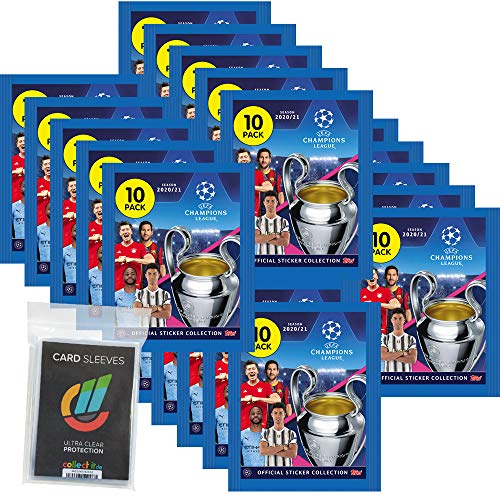 Champions L.eague 2020/21 Sticker - 20 Tüten + 40 Collect-it Hüllen Sleeves