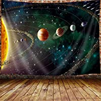 JOOCAR 宇宙惑星宇宙銀河壁マウント居間の寝室の寮の装飾的な芸術のタペストリー 150cm x 230cm
