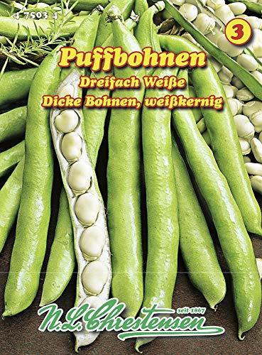 N.L. Chrestensen 475034 Puffbohne Dreifach Weiße (Puffbohnensamen)